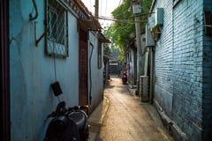 Hutong dans Pékin, Chine photos libres de droits