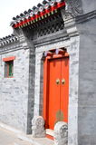 Hutong Door. Door in the Beijing Hutongs in China Royalty Free Stock Photography