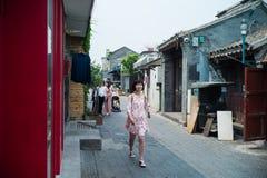 Hutong em Qianmen, Pequim fotos de stock royalty free