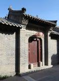 Hutong en allery in Peking Stock Afbeelding