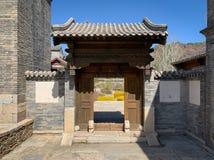 Hutong en allery in Peking stock fotografie