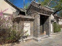 Hutong en allery in Peking stock foto's