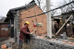 Hutong i Beijing Kina Fotografering för Bildbyråer