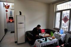 Hutong i Beijing Kina Royaltyfria Bilder