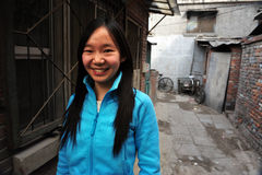 Hutong i Beijing Kina Arkivfoto