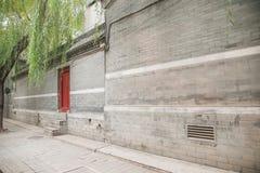 Hutong kultura Pekin siedziba w Shichahai Pekin Zdjęcie Stock