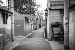 Hutong nella vecchia città di Pechino Fotografie Stock