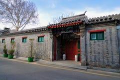 Hutong och allery \ gata i Beijing Arkivfoton