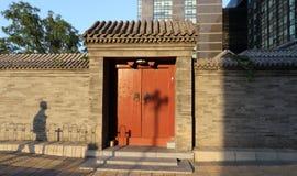 Hutong och allery i Beijing Arkivbilder