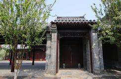 Hutong och allery i Beijing Arkivfoto