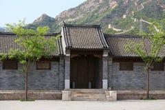 Hutong och allery i Beijing Arkivbild