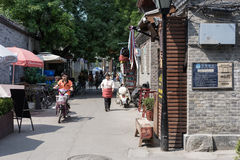 Hutong in old Beijing city Stock Image