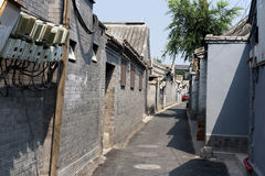 Hutong in old Beijing city Royalty Free Stock Image