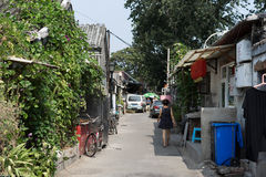Hutong in old Beijing city Stock Photos