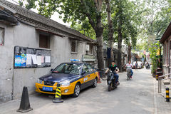 Hutong in old Beijing city Royalty Free Stock Images
