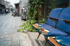 In Hutong, Qianmen, Beijing stock photo