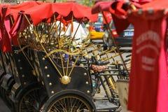 Hutong trójkołowiec Obraz Royalty Free