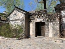 Hutong und allery in Peking stockfotografie