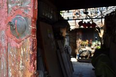 Hutongs, traditional dwellings of old Beijing royalty free stock photos