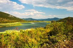 Hutovo Blato - a nature reserve and bird reserve. Located in the south of Bosnia and Herzegovina Royalty Free Stock Photo