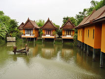 Huts. Several Thai style huts in Ayuthaya stock photo