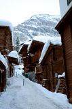 Huts. Traditional huts in Zermatt, Swiss canton of Valais Stock Images