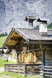 Huts in the Austrian Alps Stock Photography