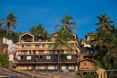 Huts on the beach. Beach huts in Goa India for rent. Vagator Royalty Free Stock Images