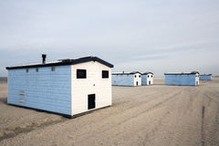 Huts on the beach Royalty Free Stock Image