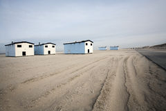 Huts on the beach Royalty Free Stock Photos