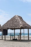 Huts on the  beach in Monpiche Royalty Free Stock Photo