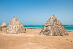 Huts of dried leaves Stock Photography
