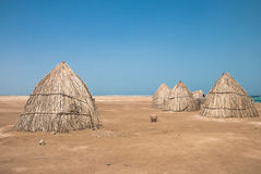 Huts of dried leaves Royalty Free Stock Photos
