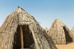 Huts of dried leaves Royalty Free Stock Image