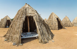Huts of dried leaves Stock Photo