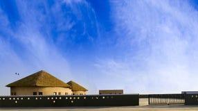 Huts Eco Camp at great Rann of Kutch Rann Utsav, Gujarat Royalty Free Stock Photo