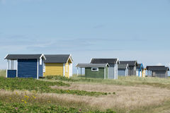 Huts in Falsterbo Stock Photography