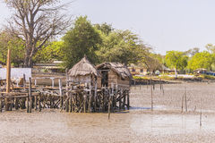 Huts of fishermen Royalty Free Stock Photo