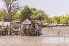 Huts of fishermen Royalty Free Stock Photo