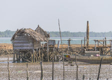 Huts of fishermen Royalty Free Stock Images