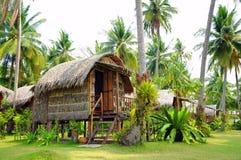 Huts in garden koh chang thailand Royalty Free Stock Photos
