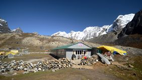 Huts in the Himalayas Royalty Free Stock Image