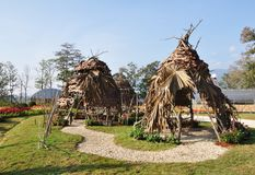 Huts made of twigs. Stock Photography