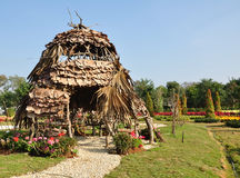 Huts made of twigs. Royalty Free Stock Image