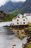 Huts in Norway Stock Photography