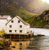 Huts in Norway Stock Image
