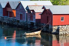 Huts in Norway Stock Images