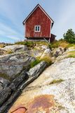 Huts in Norway Stock Photos