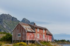 Huts in Norway Royalty Free Stock Image