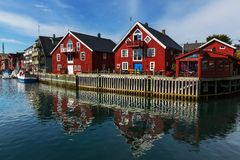 Huts in Norway Royalty Free Stock Images